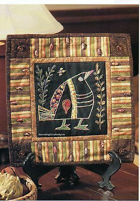 Kuku Bird Quilt Pattern Pieced/Embroidery/Embellish LR