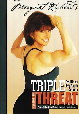 Margaret Richard's Triple Threat, Vol. 1 & 2, DVD, 2005, by Body Electric, New