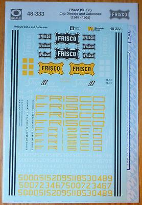 Microscale Decal O #48-333 Frisco (SL-SF) Cab Diesles & Cabooses (1948-1965)