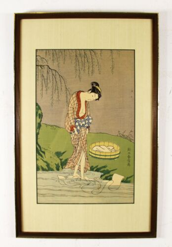 Old Antique Japanese Woodblock Print