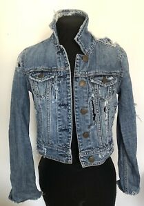 Ripped jean jacket
