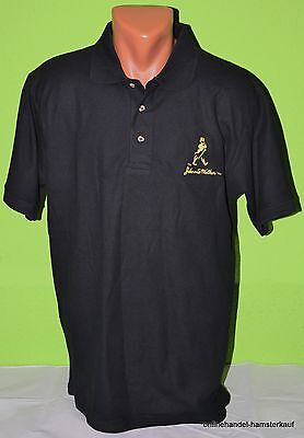 Johnnie Walker Whiskey Whisky Label Poloshirt Shirt schwarz M NEU black Johnny