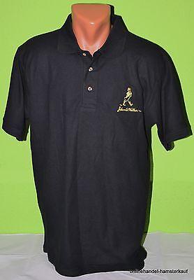 Johnny Walker Whiskey Whisky Label Poloshirt Shirt schwarz M NEU black