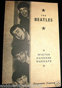 THE-BEATLES-Concert-Programme-Vintage-Pop-Music-Rock-Roll-Margate-Band-London