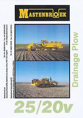 Mastenbroek 25/20v Drainage Plow  Prospekt GB 2003 brochure Baumaschinen England