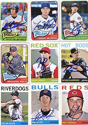 Henry Owens Signed 2013 Topps Heritage Minors Rookie Card Auto