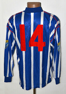 COWDENBEATH SCOTLAND MATCH WORN 1990`S HOME FOOTBALL SHIRT PAULAS BENARA #14 image