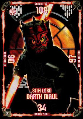 LEGO Star Wars Trading Card Collection XXL Sonderkarte Sith Lord Darth Maul #82
