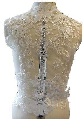 Marfil de Novia Bolero Encaje Aplique para Coser Floral Motivo Boda Vestido