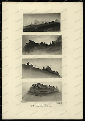 Druck-Stahlstich-Engraving-J.Ruskin-J.C-Armytage-Allen-Aiguille Structure-77