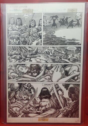 Savage Sword Of Conan #102 Pg. 17 Original Art