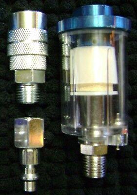 "Heavy Duty Steel 1/4"" NPT Compressed Air Filter/Water Separator"