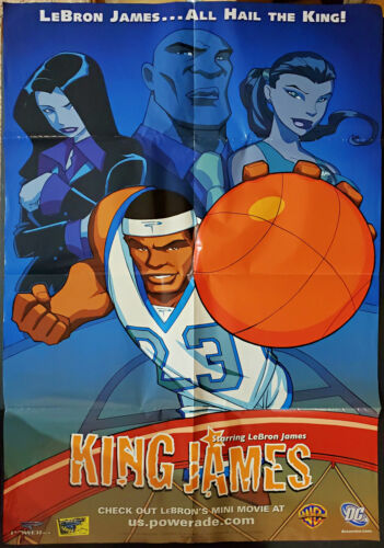 Lebron James Poster DC Comics Warner Brothers Powerade Rare King James