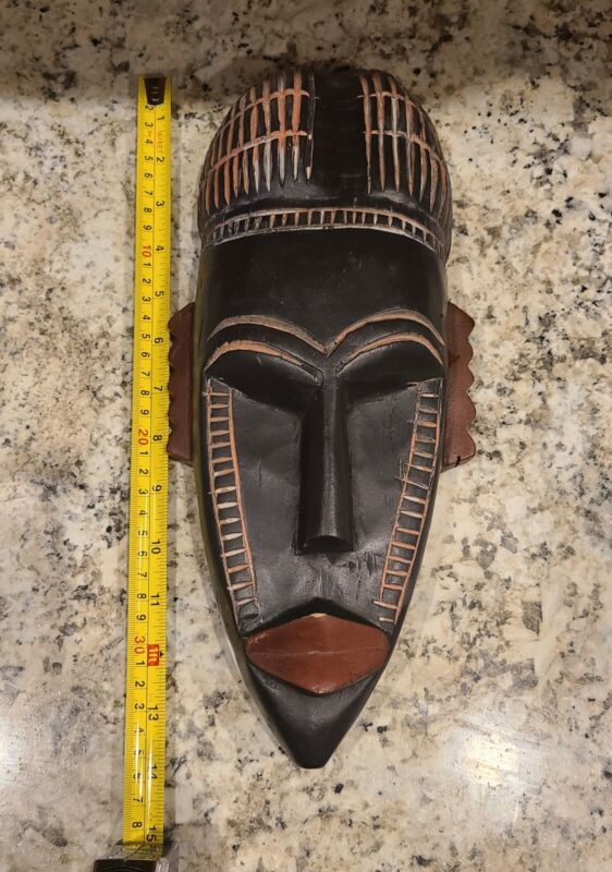 Wooden African Tribal Face Mask HandCarved Art Home Decor