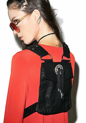 LIP SERVICE EMO BURNING MAN ROCK HIPPIE WITCH GOTHIC VEGAN HARNESS BAG BACKPACK Clothing, Shoes & Accessories