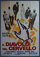 Manifesto 4fg Il Diavolo Nel Cervello Sandrelli Germani Sollima Morricone Horror -  - ebay.it