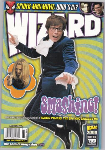 WIZARD THE COMICS MAGAZINE  #94, June 1999  Variant cover  MIKE MEYERS  VF+