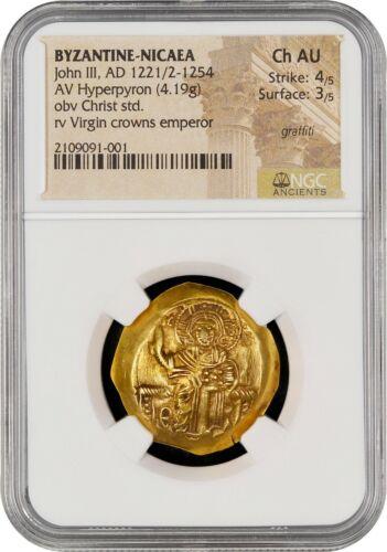 John III, AD 1221/2-1254 BYZANTINE-NICAEA AV Hyperpyron CH AU S 4/5 SU 3/5 GOLD