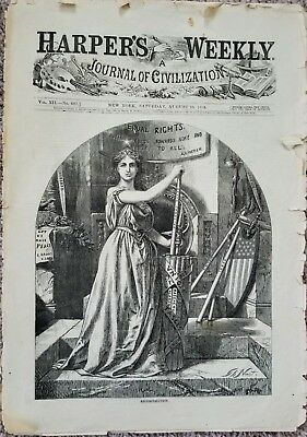 Harper's Weekly, Vol. XII, No.607, Saturday, August 15, 1868