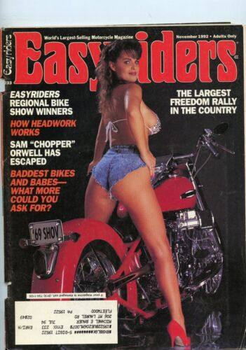 Easyriders Motorcycle Magazine Nov 1992 November See My Store