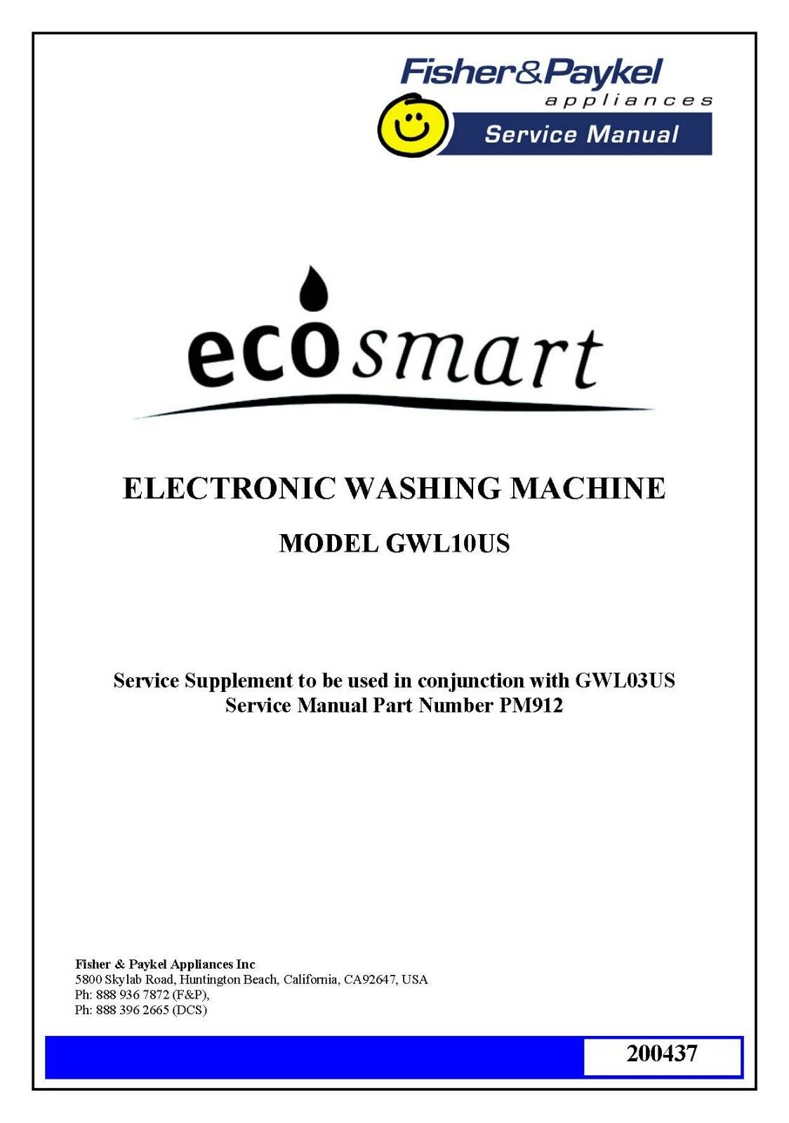 fisher and paykel de8060p2 manual
