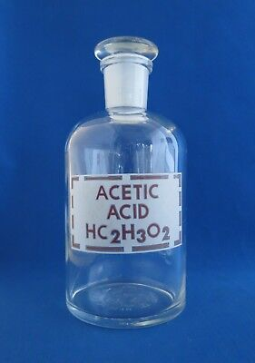 Pyrex Acetic Acid Reagent Bottle With 24 Stopper