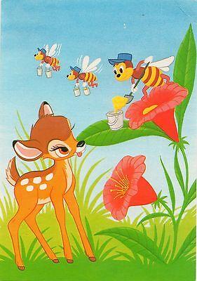 AK Walt Disney Bambi mit Bienchen