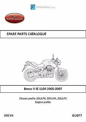 Moto Guzzi parts manual book 2005, 2006 & 2007 Breva V IE 1100 (Moto Parts)