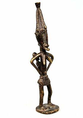 Art African Arte African Africana - Antique Maternity Bronze Dogon - 19 CMS