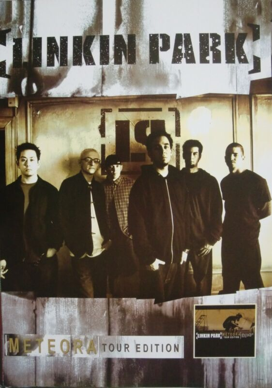 """LINKIN PARK """"METEORA TOUR EDITION"""" ASIAN MUSIC POSTER - Group Standing By Logo"""