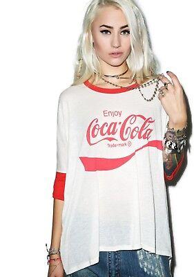 NWOT Wildfox Women's T Shirt Coca Cola Sunny Morning Oversize Tee Sizes XS S M