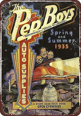 1935 Pep Boys Auto Supplies Vintage Look Reproduction 8 x 12 Metal Sign ()