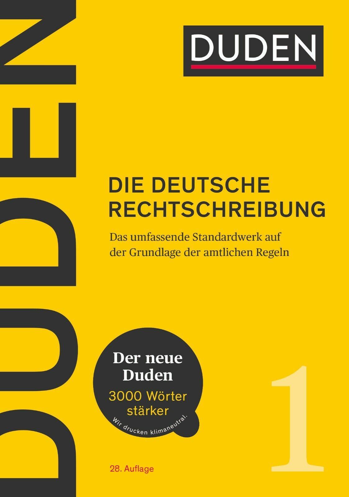 DUDEN (1) DIE DEUTSCHE RECHTSCHREIBUNG - 28. Auflage sofort lieferbar