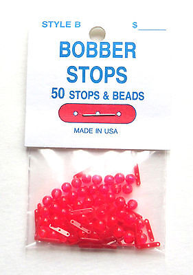 Bobber Stops and Beads - 3 Hole - Style B - 50 Per Pack - Stops & Beads