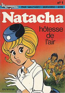 BD-Natacha-N-1-Hotesse-de-l-039-air-RE-1972-TBE-Walthery