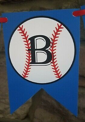 Baseball Banner handmade  party cardstock birthday sports