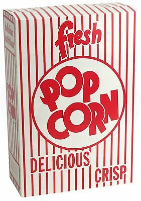 Popcorn Box 6.0 Oz. Close-top Cardboard Disposable Theater Stadium 30 Pieces