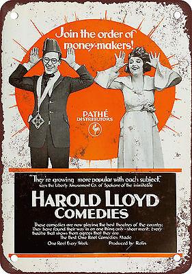 "7"" x 10"" Metal Sign - 1919 Harold Lloyd Comedies - Vintage Look Reproduction"