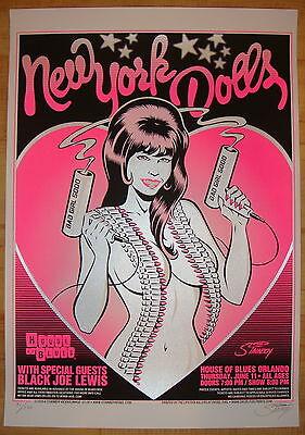 2009 New York Dolls - Orlando - Silkscreen Concert Poster S/n by Stainboy