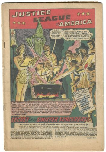 Justice League of America #2 (1960-1961) Coverless