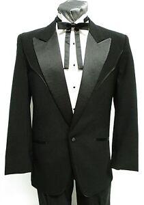 36 R Mens Black Western Peak Tuxedo Package Complete Tux Cowboy Country Wedding