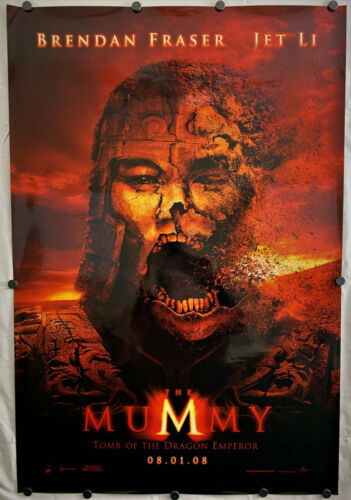 THE MUMMY Tomb of the Dragon Emporer Rolled Movie Poster 27x40 Double Sided