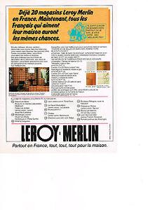 Publicite 1978 leroy merlin magasin de bricolage ebay - Remboursement leroy merlin ...