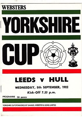 Leeds v Hull FC 1982/3 (8 Sep) Yorkshire Cup