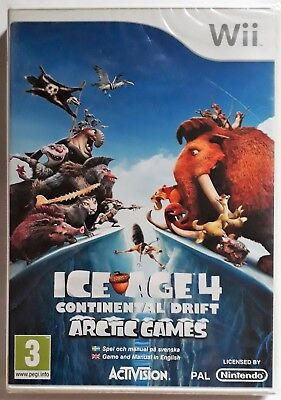 ICE AGE 4 CONTINENTAL DRIFT ARCTIC GAMES Wii GAME brand new & sealed UK (Ice Age 4 Continental Drift Arctic Games)