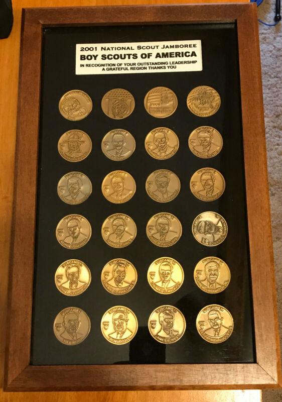 2001 National Jamboree Set of Subcamp Coins Framed