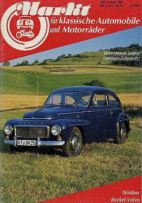 Markt 1/85 1985 Volvo PV 444 544 BMW 1600-2 2002 Cabrio Glas 1304 TS Nimbus MV