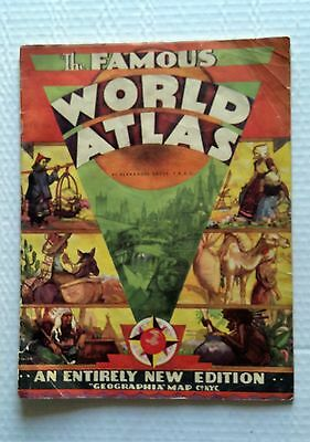 The Famous World Atlas - An Entirely New Edition - Geographia Map Co NYC