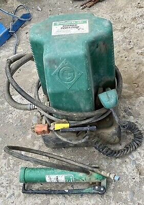 Greenlee 980 Electric Hydraulic Pump With Pendant And 767 Hand Pump