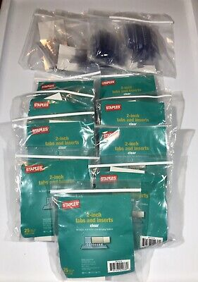 Large Lot Staples Plastic Tabs 2 X 58 Clear 25pack 11779642t Cle Tr117796